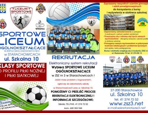 Sportowe Liceum Ogólnokształcącego w Starachowicach – INFORMATOR